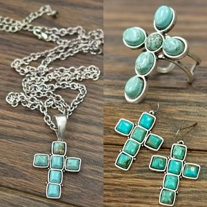 Jewelry - Turquoise Cross Jewelry Set